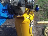 magnum 5hp,35 gallon twin cylinder,120 volts in good