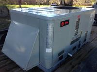 This is a 5 load Trane packaged system with 63,100 btu