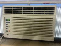 This is an LG 8000 BTU window unit A/C. It is used but