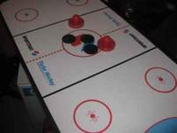 Air Hockey table is for kids between ages 5 and 12