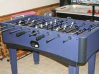 Air Hockey and FooseBall tables made by DMI Sports.