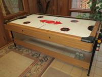Fat Cat Air Hockey Table. Easily Flips Over To Make A