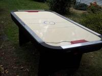 Air hockey table. Good condition. Needs new pucks. $75