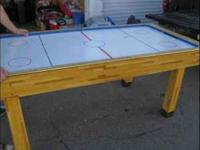 Full size working Air Hockey table or beer pong table.