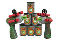 Twice the fun! With two Pop Shotz Blasters and 6 target