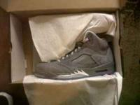 I have a pair of 100% authentic Jordan 5 Wolf Greys in