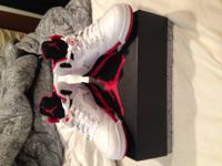 Selling my pair of Air Jordan Retro 5s Fire Red in Size