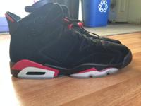 Dead stock/Never worn air jordan infrared 6s size 11.