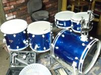 D-drum airforce blue customized kit with additional