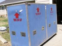 THIS IS A STORAGE SPACE CONTAINER THAT WAS MADE USE OF