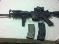 FOR SALE: APS M4 RAS Airsoft Blowback AEG 104.