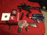 I need to sell these airsoft guns with plastic bb's and