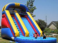 18 foot Waterslide- $160.  17 foot Waterslide-$150.