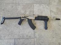 AK47 TACTICAL UNDERFOLDER HUNGARIAN DESERT TAN AND