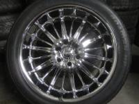 AKUZA CHROME RIMS & TIRES 22 INCH - 6X5.5 FOR TRUCKS 6