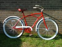 1-Male Cruiser Bikewith 2 x 2.125 Whitewall Tires,