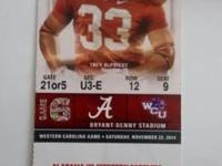 Event Type:SportsEvent:FootballI have 2 Alabama home