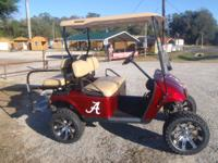 2007 ALABAMA EDITION GOLF CART THIS GOLF CART HAS A