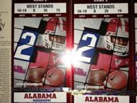 2 tickets, home side, lower level, section B, row 35,