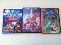 i have all 3 Aladdin movies on DVD.. needing some extra
