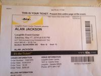 We're Selling our 2 tickets to the Sold Out ALAN