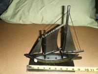 Two items for sale: Whale baleen sail boat- Made from