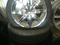Set of Alba Chrome Wheels and Tires. 5 lug. 5 on 4.5