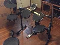 This drum set is practically new. I have only played it