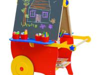 The ultimate easel for young artists! One side is a