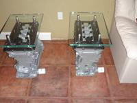 Alfa Romeo end tables This pair of identical end tables