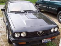1985 Alfa Romeo GTV-6. 112K miles. It starts easily,