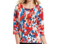 Flaunt the florals in Alfred Dunner's colorful sweater