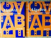 Hardcover Algebra 1 - An Incremental Development,