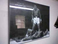 Huge glass picture of the May 25, 1965 Muhhammed ali