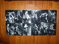 Alice Cooper black and white 4x6 photo set of 12. This