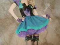 Alice Mad Hatter Tea Party Costume.. Size X-Small..Very