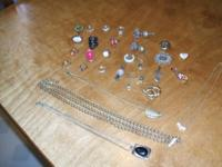 I HAVE EARRINGS,NECKLACES,SOME NECKLACE PIECES WITHOUT