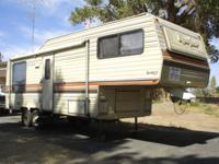 1980 26' Aljo 5th wheel travel trailer in very good
