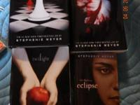 Alll 4 books in the series:  Twlight, Breaking