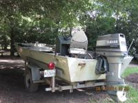 17ft long x 6ft wide Aluminum Fishing Boat 90hp Yamaha
