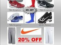 All baseball cleats, shoes and uniforms on sale now in