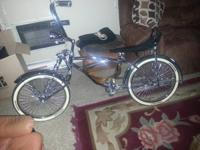 Hello I am selling a lowrider bike. Its all chrome
