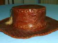 All Leather Hat size 7 Looks like it is hand made.   IF