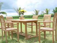 Check out our 7pc OCEAN TEAK DINING SET SEATS SIX SKU: