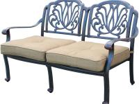 Elisabeth Cast Aluminum Patio Love seat All aluminum