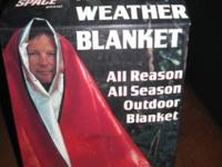 "All Weather Red Outdoor Blanket-New Never Used, 60"" x"