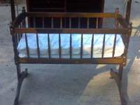 Beautiful All Wood Baby Crib For Sale. A Must See.