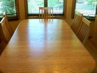 All Wood dining Room table with Two Arm chairs and 4