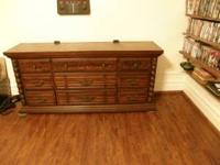 All wood dresser for sale in Batavia Ny 9 deep drawers