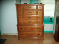 9 drawers Dresser/mirror/5 drawer chest, Headboard,